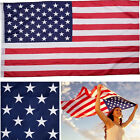 American Flag 3x5ft Polyester Embroidered Stars Sewn USA Stripes Grommets