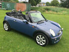 LARGER PHOTOS: 2005 MINI COOPER CONVERTIBLE, COOL BLUE, FULL LEATHER, HEATED SEATS, 87000 MILES