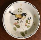 Fitz And Floyd  Pattern OISEAU  Saucer with Bird, Blue Border, Plant and Berries