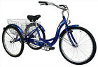 Schwinn Meridian Blue Single Speed Adult 26-Inch Tricycle w Basket Safe Senior