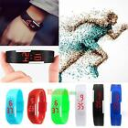 Colorful Silicone LED Digital Rubber Bracelet Touch Sport Wrist Watch Kids Gift