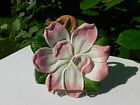 FITZ & FLOYD BOUNTIFUL BLOSSOMS CANAPE PLATE WALL HANGING PINK MAGNOLIA FLOWER
