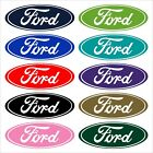 Ford Decal Script Oval Many Colors Many Sizes