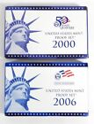 2000  2006 US Mint Proof Set in Box with COA  State Quarters