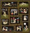 You Lucky Dog Woolies Applique COMPLETE Quilt Pattern Set of 11 NOT KIT