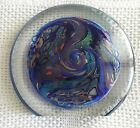 Incredible Rollin Karg Dichroic Art Glass Sculpture Large  Heavy signed 1997