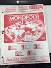 STERN ORIGINAL PINBALL MANUAL MONOPOLY