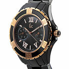 GUESS COLLECTION SWISS LADIES, BLACK CERAMIC & ROSEGOLD WATCH, X69004L2S, $700