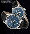Epos 3391 Luxury Men's Watch Automatic Stainless Steel Leather Wrist Watch