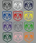Dodge Ram Truck Shield Logo Decal Many Colors Many Sizes Free Shipping