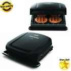Removable Plate Grill Non Stick Coating Fast Cooker 4 Serving Griddle Black New