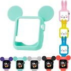 Cute Rabbit Mickey Silicone Guard Protective Case Cover For Apple Watch 38 42mm