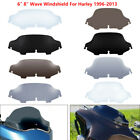 6 8 Wave Windshield Windscreen For Harley Touring Street Glide FLHT 1996 13 US