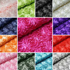 54 wide x 12 feet Raised Roses FABRIC BOLT Wedding Party Decorations WHOLESALE