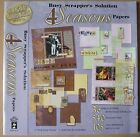HOTP Hot Off The Press Paper Pizazz Busy Scrappers 4 Seasons Papers Pad 12