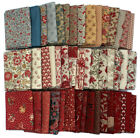 10 Fat Quarters French General Calico Floral Flowers Red Blue Quilting M22901