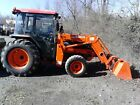 2001 Kubota L4610HSTC 47hp 4wd CAB tractor with LA852 front loader