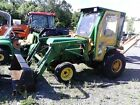 1994 John Deere 855 24hp 4wd tractor with 70A front loader.