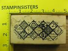 Rubber Stamp Artful Mosaic Stampers Anonymous Keyhole Text Stampinsisters 1706