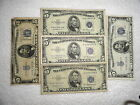 $$$ FIVE (5) 5 DOLLAR SILVER CERTIFICATES - 1934 & 1953 SERIES $$$