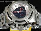 Invicta Reserve Bolt Zeus Swiss Chronograph Watch Black/Silver Dial Red Accents