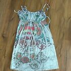 WOMENS CUTE LOVE TATTOO HEART COVER UP DRESS SPAGHETTI STRAP SUMMER LARGE