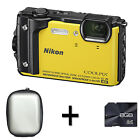 Nikon COOLPIX W300 Digital Camera - Yellow + Case and 8GB Memory Card