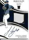 2016 Panini Immaculate Jorge Lopez Autographed Rookie Patch Card 20 99
