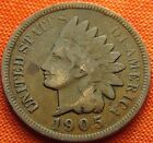 1905 UNITED STATES INDIAN HEAD PENNY 1C USA 1 CENT