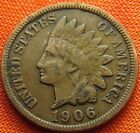 1906 UNITED STATES INDIAN HEAD PENNY 1C USA 1 CENT