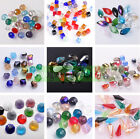 Mixed Color Faceted Rondelle Round Cube Teardrop Glass Loose Beads Making DIY