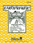 Earthshaker Pinball Operations/Service/Repair Manual Arcade Game Machine     PPs