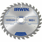 Irwin ATB Construction Circular Saw Blade 160mm 30T 20mm