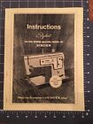 INSTRUCTION MANUAL for SINGER STYLIST ZIG ZAG SEWING MACHINE MODEL 457