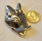 Disney Daisy Duck Sterling Brooch Pin 925 Silver Signed DLC Vintage Pendant