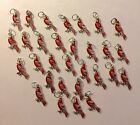 Lot of 30 Silver Plated Enamel Cardinals Charms for Jewelry St Louis Cardinals