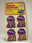 Sealed Vintage MELLO SMELLOS Scratch  Smell Stickers Grape Snow Cone Roses