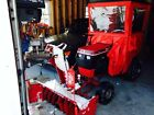 Wheel Horse 312 8 tractor with cab snow blower 36 inch mower and a plow