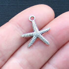 10 Starfish Charms Antique Silver Tone Dainty and Classic SC3188