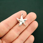 10 Starfish Charms Antique Silver Tone SC6324