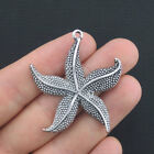 2 Large Starfish Charms Antique Silver Tone SC463
