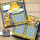 YOU ARE MY SUNSHINE 2 premade scrapbook pages paper piecing baby BY DIGISCRAP