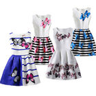 US Cute Kids Baby Girls Summer Butterfly Party Tutu Dress Formal Clothes 6 12T