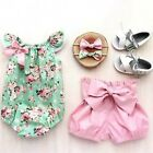 Adorable Newborn Kids Baby Girl Floral Tops Romper Shorts Outfits Set Clothes US