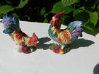 Fitz and Floyd Coq du Village Coupe Rooster Salt & Pepper Shaker Set