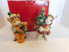 Fitz Floyd Christmas Lodge Retired Salt & Pepper Shakers Bear and Rabbit w/Box
