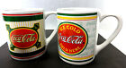 2 Collectible Gibson Coca-Cola Coffee Tea Mug Cups