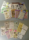 Assorted Clear Stamp Sets You Choose Male Sports Friends Sentiments Grad