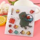 Cards Clear Sheet Silicone Rubber Cat Fishtank Transparent Stamps Scrapbooking