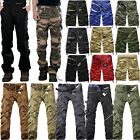 Mens Combat Cargo Military Army Camo Solid Work Tactical Shorts Pants Trousers